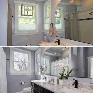 before and after home sold listed by best arlington real estate agent renata briggman