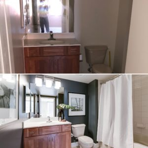 before and after condo  in Arlington Station Square sold listed by best arlington realtor Renata Briggman