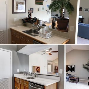 before and after staged arlington condo sold by best arlington realtor renata briggman