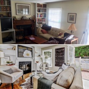 Before and after staged arlington townhome by best arlington realtor renata briggman