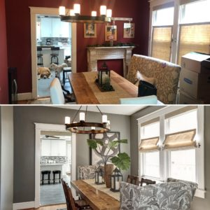 Before and after Arlington home staged to sell best Arlington realtor