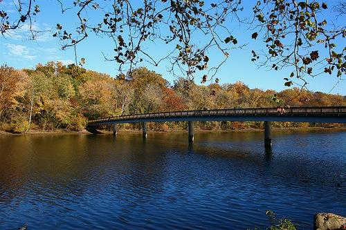 Rosslyn, VA Bridge to Roosevelt Island