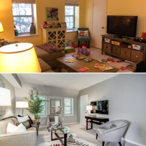 Before and after staged condo in Arlington VA selling a home successfully best realtor