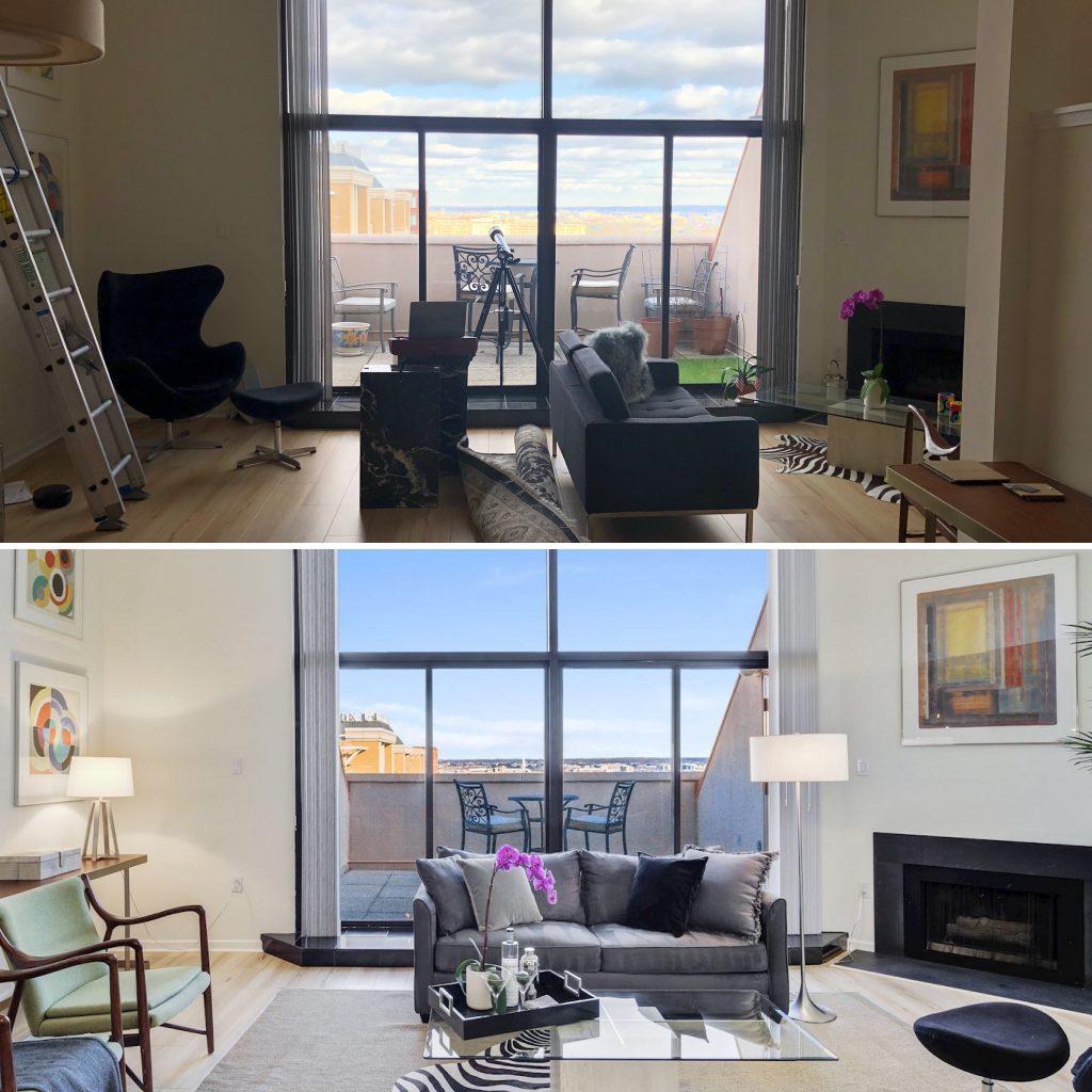 Renata Briggman Realtor Arlington VA transforms a condo for sale