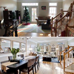 Dining living room transformation